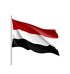 yemen national flag realistic vector image