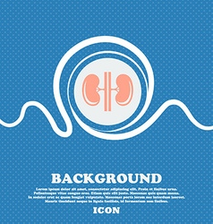 Kidneys sign blue and white abstract background vector