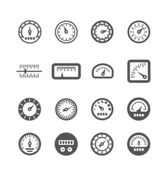 Meter control panel speedometer icons set vector image