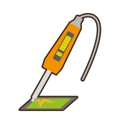 Yellow electronic repair hardware pc vector