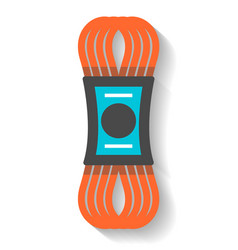 climbing rope icon isolated vector image