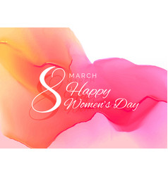 Womans day celebration greeting card design with vector