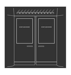 subway doors vector image