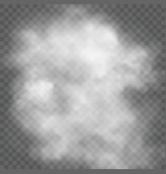 transparent cloud vector image