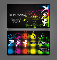 Business card for painting template design vector