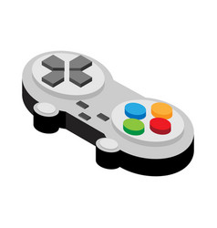 Video game controller of flat style vector