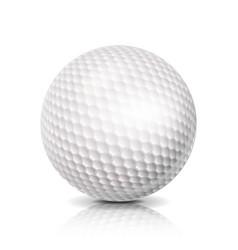 Golf ball 3d realistic white vector