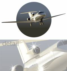 Business-jet vector