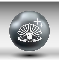 Gray web icon pearl isolated ball symbol element vector