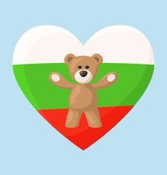 Bulgarian teddy bears vector