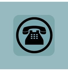 Pale blue phone sign vector