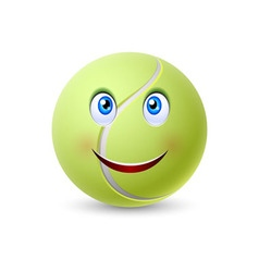 Ball for tennis vector