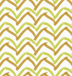 Rough brush brown and green chevron vector