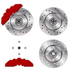car brake disk system vector image