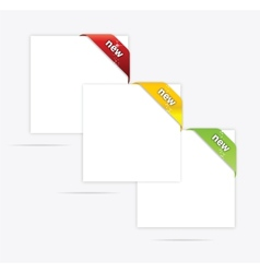 Web paper blank set vector