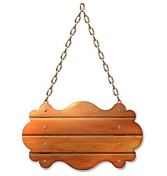 A wooden sign banner vector