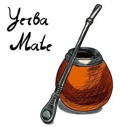 Yerba mate calabash vector
