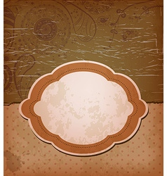 Vintage brown backdrop with frame vector
