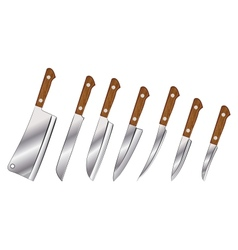 a set of knives vector image