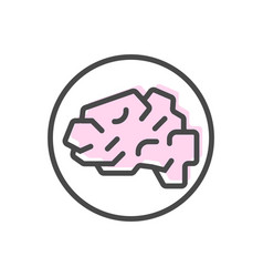 Artificial intelligence icon with brain symbol vector
