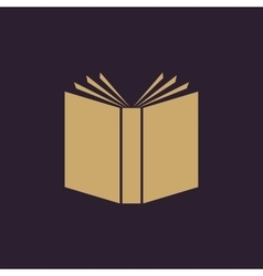 Book icon design Library Book symbol vector image vector image