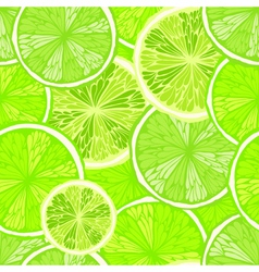 Bright seamless background with limes vector image vector image