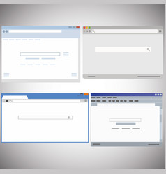 browser window with search bar vector image vector image