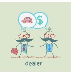 Business meeting dealers vector