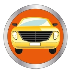 Button with car vector image