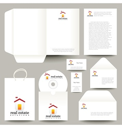 CD and packaging for real estate business vector image