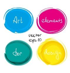 Circle paint drop set vector image