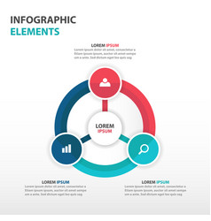 colorful circle business infographics elements vector image