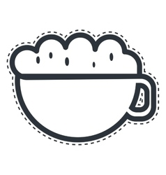 cup coffee drink isolated icon vector image vector image