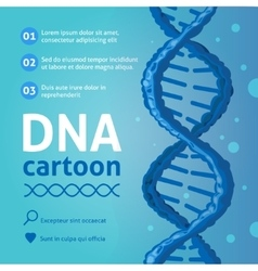Dna background cartoon vector