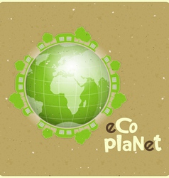 eco planet vector image