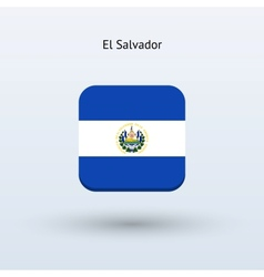 El salvador flag icon vector