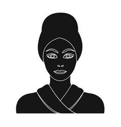 Girl single icon in black stylegirl vector