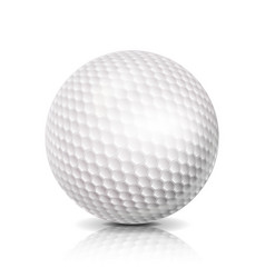 Golf ball 3d realistic white vector