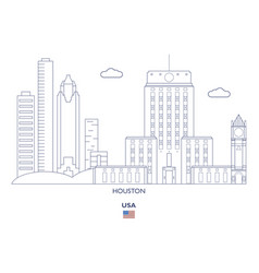 Houston city skyline vector