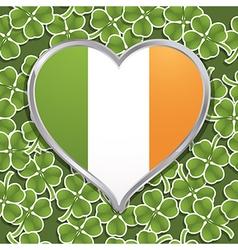 Irish heart decoration vector