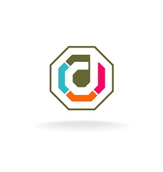 Letter D construction logo vector image