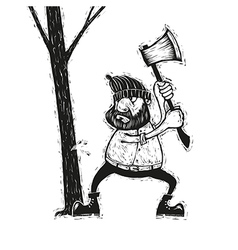 Lumberjack with ax vector image
