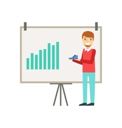 Marketing Manager Doing Presentation With Chart vector image vector image