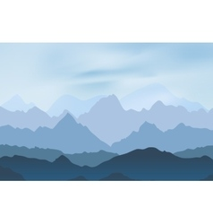 Nature landscape with mountain peaks vector image