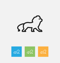 Of zoo symbol on lion outline vector