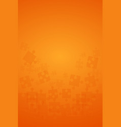 Orange puzzles pieces - jigsaw vector