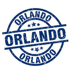 Orlando blue round grunge stamp vector