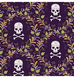 Pattern skull halloween vector