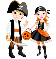 pirate couple vector image vector image