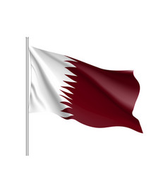 qatar national flag realistic vector image vector image